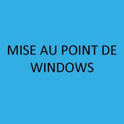 MISE AU POINT DE WINDOWS, 3.1,...10