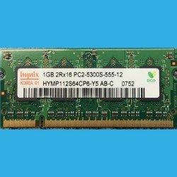 HYNIX 1GB 2Rx16 PC2-5300S-555-12  --  HYMP112S64CP6-Y5 AB-C  --  DDR2 200-Pin 667MHz