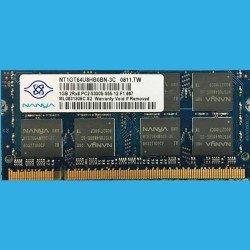 NANYA NT1GT64U8HB0BN-3C  0811.TW  --  1GB.2RX8.PC2-5300S-555-12-F1.667  --  ML0831306C.S2  --  DDR2 200-Pin 667MHz